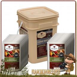 Pack 60 Plats de Survie Longue Conservation Wise Company pour le stockage alimentaire d'urgence survivaliste