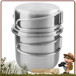 Set Pot Inox 500 ml Tatonka handle mug 50cl randonnee bushcraft