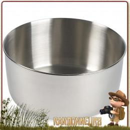 Petit Pot en acier inoxydable polyvalent de Tatonka. D'un volume utile de 1.4 Litres, avec graduations intérieures
