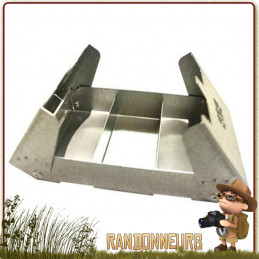 Réchaud pliable ultra léger, le réchaud BCB en acier est compact et comporte un pare-vent démontable intégré