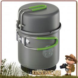 Réchaud ELEKTRA FE Optimus gaz Crux Lite, popote Terra Weekend HE aluminium anodisé répartiteur thermique, pare vent