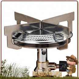réchaud Mimer Duo Primus accepte les larges diamètres de casserole. Valve Duo compatible toutes marques de cartouches