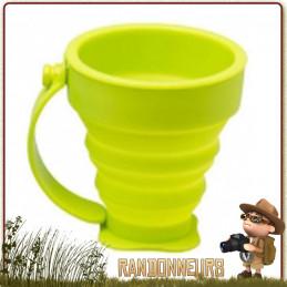 tasse silicone alimentaire repliable 20 cl de camping cao Tasse plastique pliante cao avec anse pour randonner