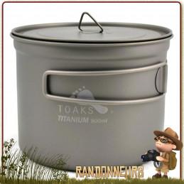 popote Titanium de Toaks est un pot en titane ultra léger pour la randonnée ultra light et le trek minimaliste