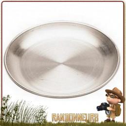 Assiette Camping Aluminium diamètre 18 cm pour la randonnée légère trouvera facilement sa place dans votre vaisselle de camping