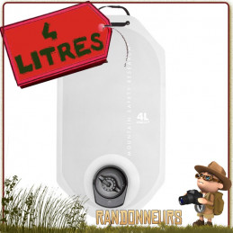 Poche à Eau Msr DROMLITE V2 4 Litres pour transport de l'eau en randonnée légère trekking