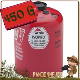 Cartouche Gaz MSR IsoPro 450g à valve Lindal avec filetage 80% d'isobutane et 20% de propane pour basses températures