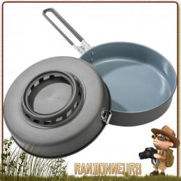 poêle à frire 1.5L anti-adhésive Céramique Flex Skillet Windburner de MSR Échangeur thermique et coupe vent intégré