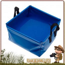 Cuvette Bassine pliante de 12 Litres CAO pour le camping, pour faire la vaisselle et sa toilette en plein air