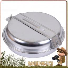 Set Popote camping Bushcraft Inox pour une Personne. Popote en acier inoxydable composée de 5 pièces