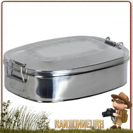 porte aliment lunch box acier inoxydable grand volume relags utilisable en gamelle bushcraft avec pince preneuse