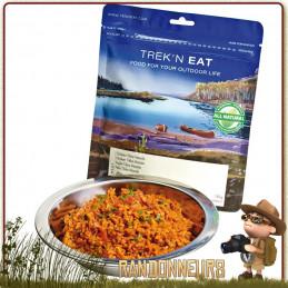 repas randonnée légère lyophilisé en sachet Poulet Tikka Masala Trek'n Eat