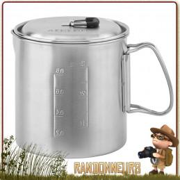 Pot inox 90 cl Solo Stove couvercle passoire. durable, le Pot 900 permet d'intégrer à l'intérieur le réchaud bois Solo Stove
