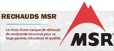 Réchauds et popotes randonnée MSR